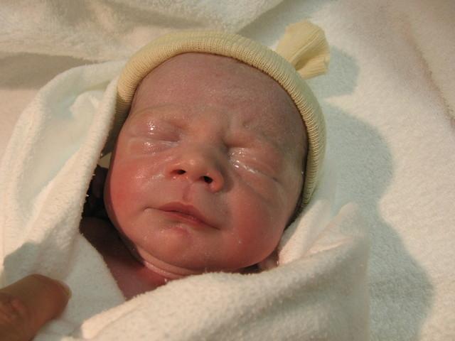Novorozeně po porodu